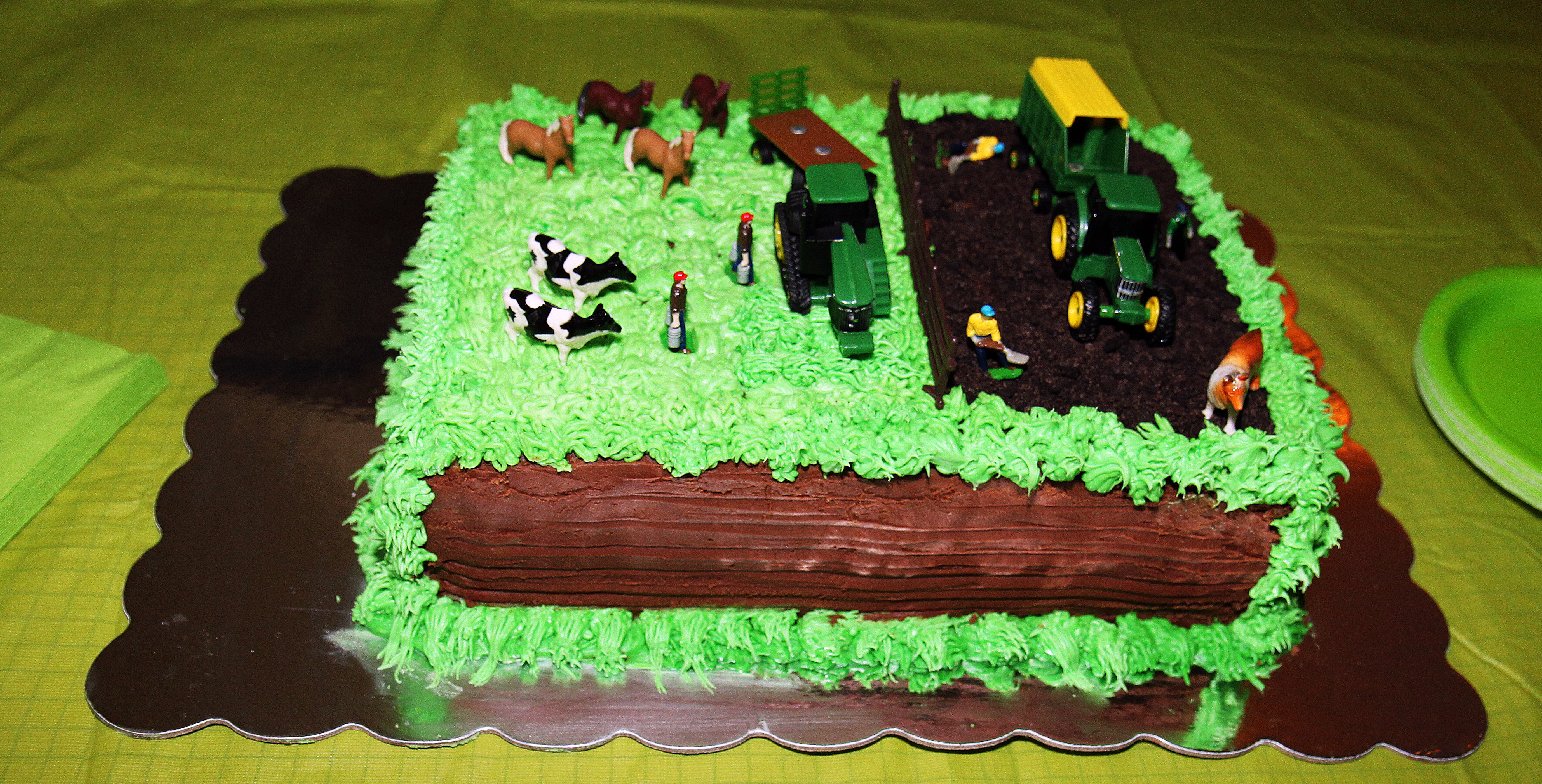 The Tractor Cake!!! Mommy Ramblings