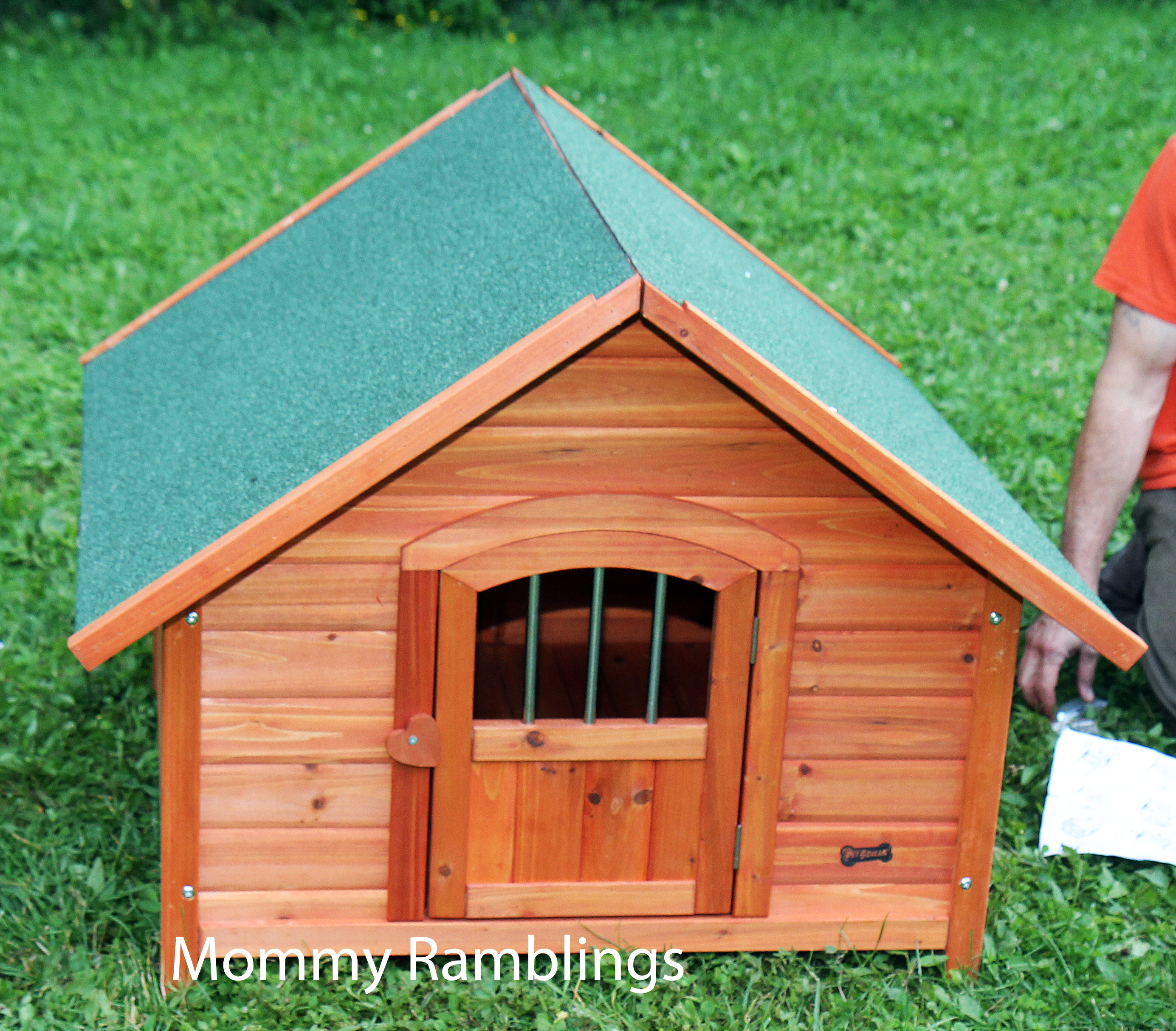 Pet Squeak S Porch Pups Wood Dog House Review Mommy