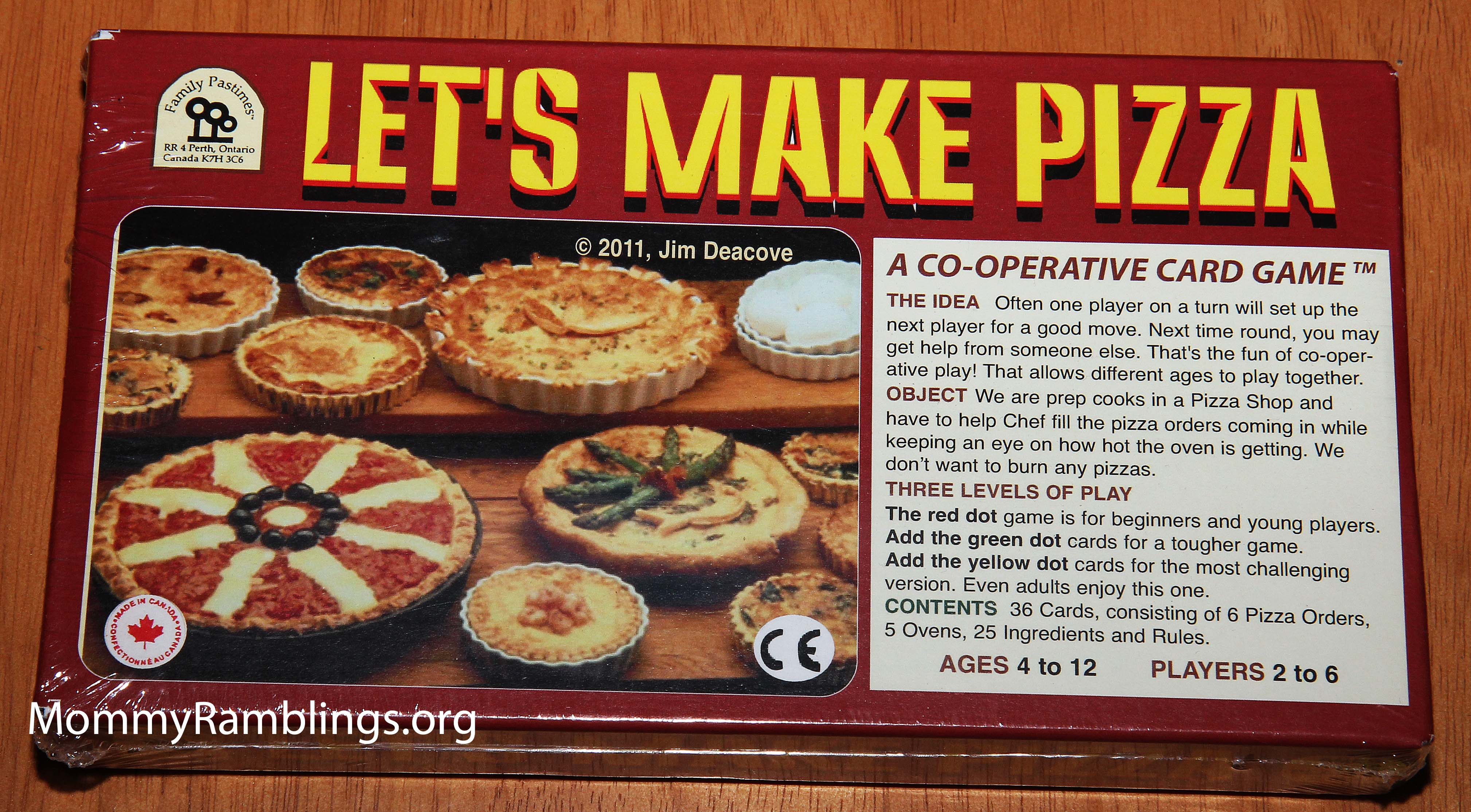 Family Pastimes, Let's Make Pizza Co-Operative Card Game Review &  Give-Away!!! {Give-Away Ended} • Mommy Ramblings