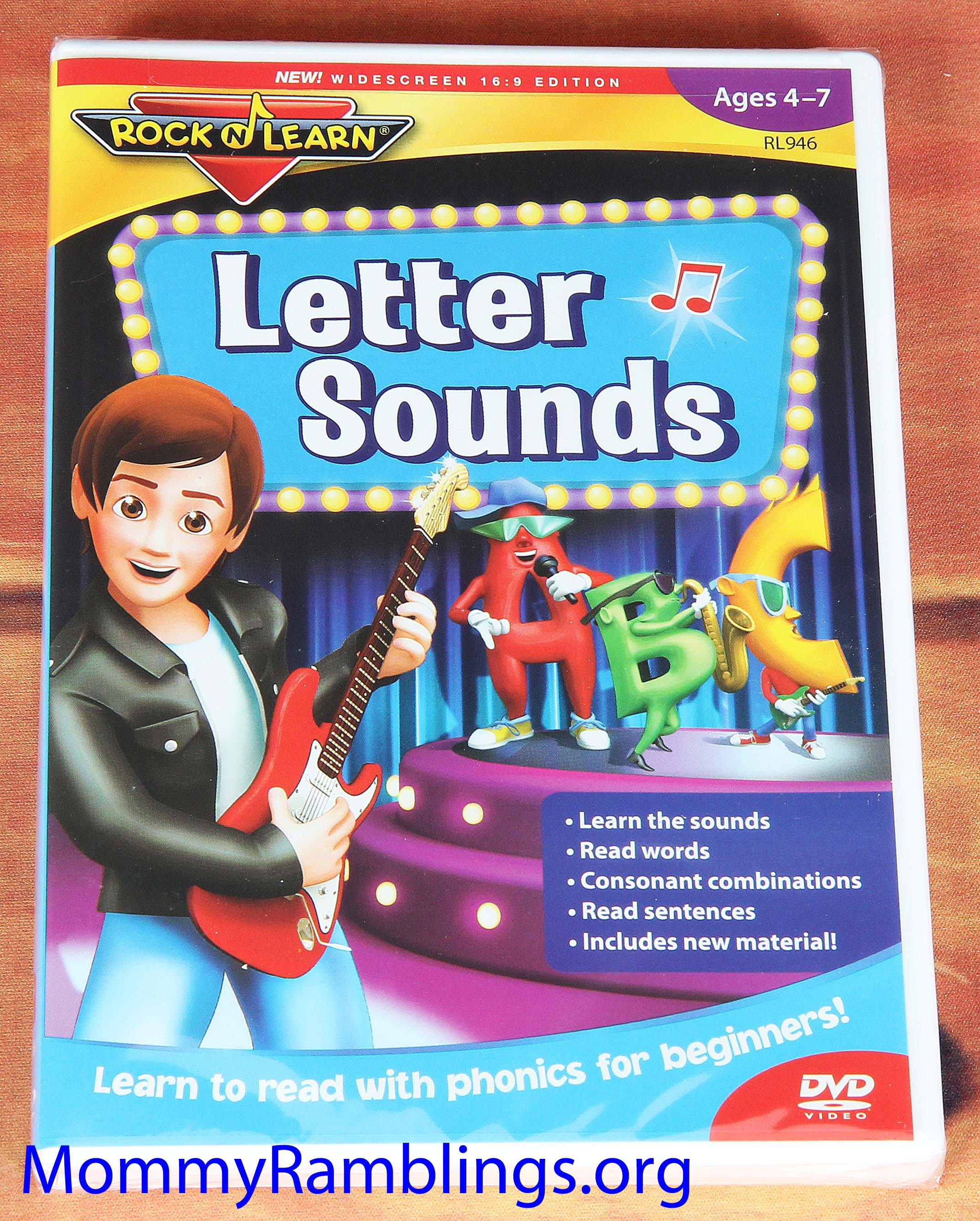 Rock N Learn New Letter Sounds DVD Review, Discount Code & Give-Away ...